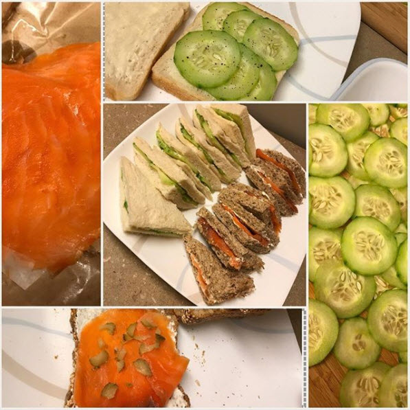 Cucumber and Smoked Salmon Tea Sandwiches