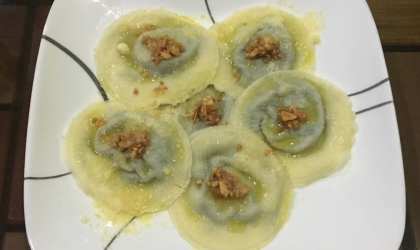 Basil with Pine Nuts Ravioli